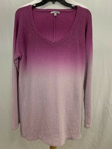 Sonoma Women Dip-Dye Long Sleeve Sweater XL Purple Polyester Excellent C... - $24.19