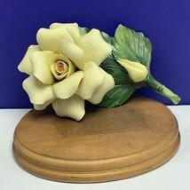 Capodimonte porcelain flower Italy figurine sculpture AMC yellow tulip rose lily - $69.25