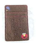 2005 Sesame Workshop Elmo Magic Wallet Brown Flannel - $10.00