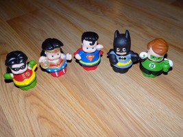 Fisher Price Little People Justice League DC Comics Figures Batman Robin... - $25.00