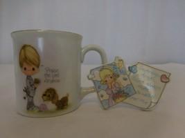 "Precious Moments ""Praise the Lord Anyhow"" Coffee Mug Tea Cup 1984 + Magnet - $11.90"