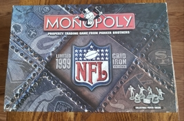 MONOPOLY NFL 1999 GRIDIRON GAME 1999 PARKER BROTHERS #41253 COMPLETE EXC... - $25.00