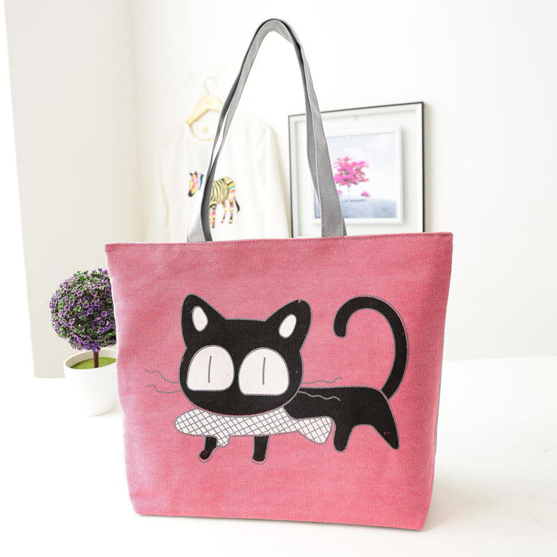 Beach bags Famous Cat Large Shoulder Tote image 4