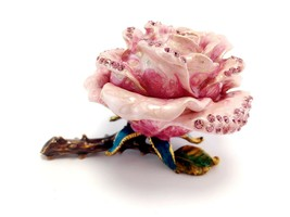Valentines Day Pink Rose Forever Love Flower Jewelry Trinket Box  #MCK11 - $37.17