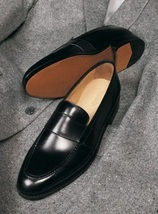 Handmade Men Leather Dress Shoes, Men black Leather formal Shoes, Mens shoes - $164.99