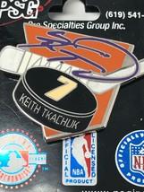 NHL Phoenix Arizona Coyotes VTG Logo Pin Keith Tkachuk #7 Puck New NOS image 2