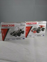 Lot of 2 ERECTOR Sets By Meccano Blue/Orange Planes, Models, Tools Included - $12.86