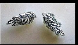 Leaf Clip-on Earrings AB 721 Vintage image 2