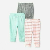 Cloud Island Infant Baby Girl 3pk Geo Bright Pants Sizes NB and 0-3M NWT - $7.14