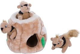 Outward Hound Hide-A-Squirrel Squeaky Puzzle Plush Dog Toy Hide and Seek... - $22.50