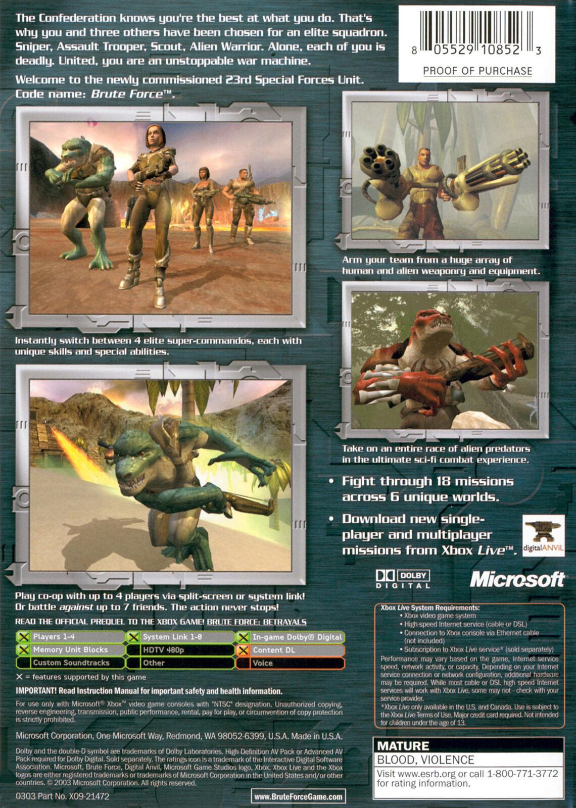 Brute Force Xbox OG  Complete CIB