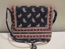 Vtg Vera Bradley Flap Bag Shoulder Strap Navy Paisley Retired Pattern - $12.82