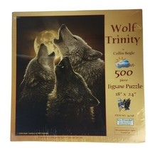 Wolf Trinity By Collin Bogle - Suns Out 500 Piece Puzzle Wolves New Item # 34258 - $14.85