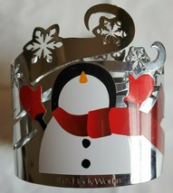 Bath & Body Works Decorative Metal Christmas Snowman Silver Lotion Sleev... - $18.80