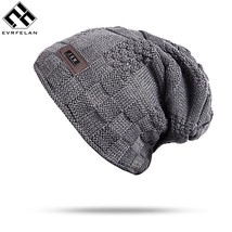 "Evrfelan New Men""s Winter Fall Hat Fashion Knitted Hats Thick Warm Hat C... - $11.00"