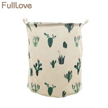 FULLLOVE® Folding Black Cactus Laundry Basket 42*48cm Nordic Style Dirty... - $18.22