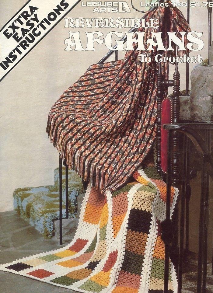 Reversible Afghans LA130 Crochet Pattern Leaflet