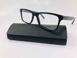 New Authentic Prada VPR 06R 1BO-1O1 Black Eyeglasses 55mm with Prada Case - $94.05