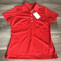 New W/ Logo Womens Nike Golf Polo Medium Red Msrp $45 394665 - $24.74