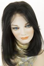 Black Brunette Medium Premium Remy Human Hair Lace Front Straight Wigs - $286.10