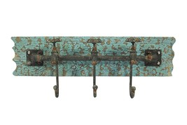 Vintage Iron Wall Hooks Antique Finish Metal Clothes Bath Tower Hanger T... - €35,98 EUR