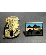 Egypt Lapel Pin And Egyptian  Queen Lapel Pins - $10.86
