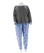 Cuddl Duds Ultra Plush Velvet Fleece Pajama Set Char Penguin XS NEW A294776 - $21.76