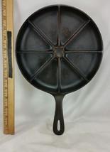 Vintage Lodge Cast Iron Corn Bread Skillet #8 Wedge Restored Seasoned US... - $29.69