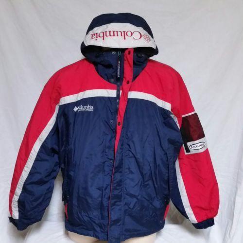 91aa9f68586 VTG Columbia Sport Ski Coat Winter Jacket Colorblock Sailing Anorak 90s  Large - $99.99