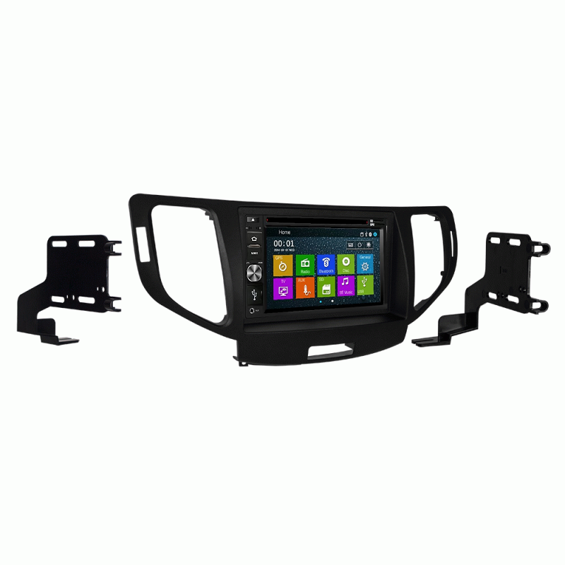 DVD GPS Navigation Multimedia Bluetooth Radio and Dash Kit for Acura TSX 2011