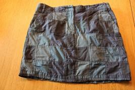 W9632 Womens Ann Taylor Loft Blue Cotton Patchwork Mini Skirt Sz 8 - $12.60