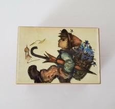 Vintage Boy print Thorens Swiss-Made Wooden Music Box Laras Theme Song H... - $29.00