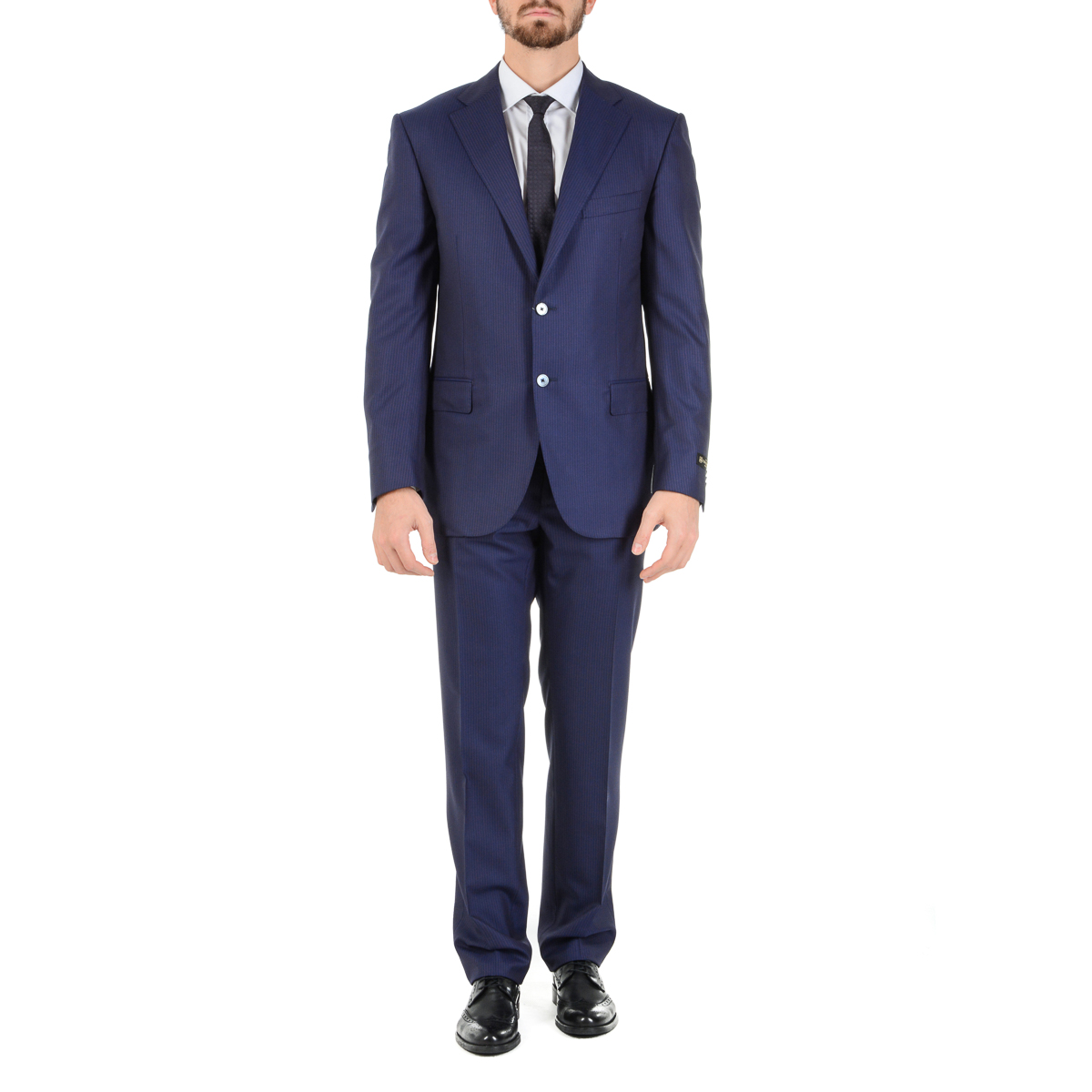 Primary image for Corneliani Mens Suit Long Sleeves Blue Super 160's
