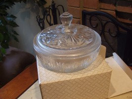 Vintage 1970's Avon Beauty Dust Crystalique Container CANDY DISH  New in... - $30.68