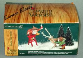 "North Pole Woods ""Scissors Wizards"" Set of 2 Figurines - Dept 56 - NIB - $24.14"