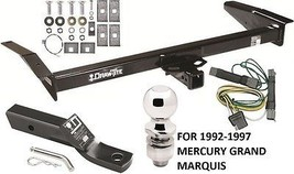 1992-1997 MERCURY GRAND MARQUIS COMPLETE TRAILER HITCH PACKAGE W/ WIRING... - $244.96