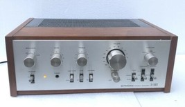 VINTAGE PIONEER SA-7500II  STEREO AMPLIFIER WITH WOOD CASE WORKS WELL - $247.50