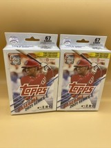 Lot Of 2 Topps 21 Baseball cards Series 1 Hanger Boxes - NEW MLB - $44.50
