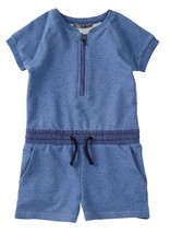 Vince Girls' French Terry Romper, Blue, Size 4, MSRP $94 - $32.66