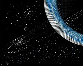 "Bead Embroidery DIY Kit ""Saturn"" 16.9""х13.4"" - $37.95"