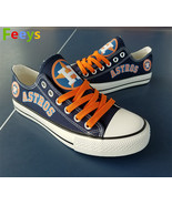 houston astros shoes womens astros sneakers blue baseball fashion birthd... - $55.00+