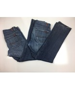 Lot Of Two 7 For All Mankind Men's Standard Button Fly Stretch Jeans Sz 33 - $22.49