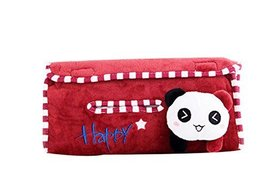 Cute Panda Plush Auto Supplies Hanging Tissue Box Tissue Box Car Tissue Box