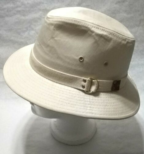 Dorfman Pacific Co. Men's Garment Washed Twill Safari Hat Beige Small, used image 3