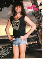 Jon Bon Jovi teen magazine pinup clipping jean shorts bulge by a hammock