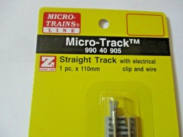 Micro-Trains Micro-Track # 99040905 Straight Track with Electrical Clip & Wire Z image 2
