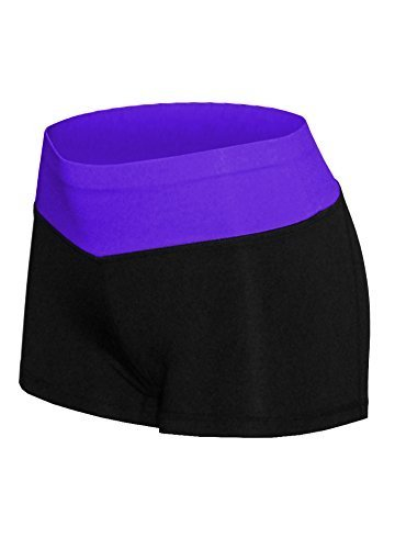 W Sport Women's Athletic Moisture Wick Mini Yoga Shorts Leggings, Purple, Small