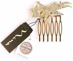 Nina Women's Prema Gold Finish Swarovski Multi-Star Wedding Bridal Hair Comb NWT image 4