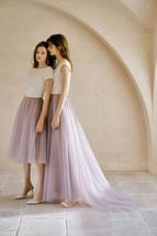 Rose Pink Wedding Tulle Skirt with Train Wedding Tulle Skirt Tulle Bridal Tutu image 2