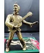Elvis Presley 1992 Hallmark Keepsake Ornament Brass Plated Ornament Gold... - $8.90
